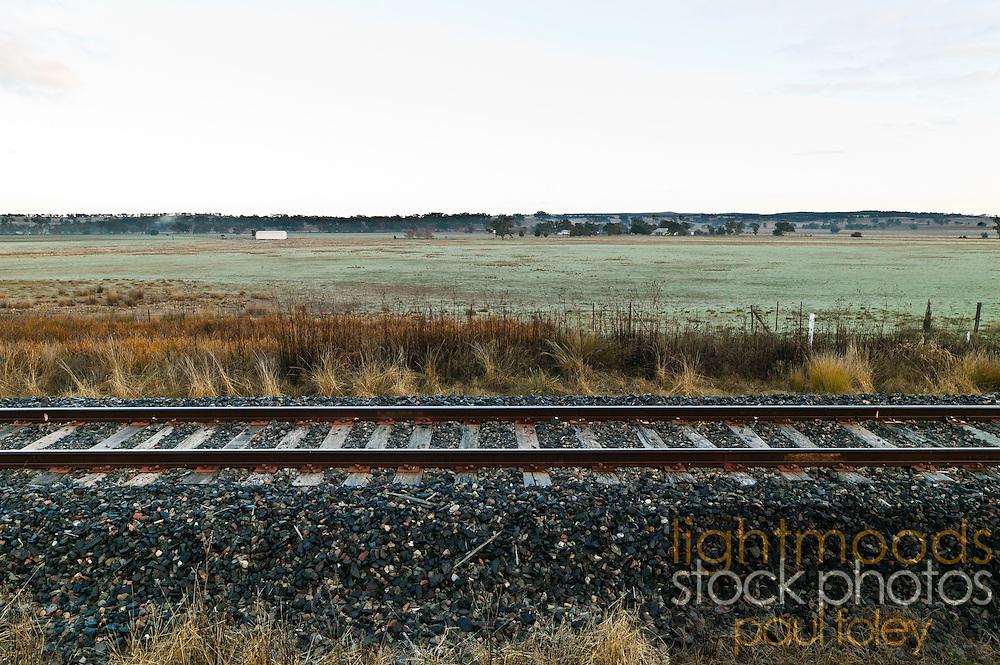 Rail Tracks, Western NSW, Australia