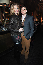 JODIE KIDD and THOMAS GEORGE at a party to celebrate the 135th anniversary of The Criterion restaurant, Piccadilly, London held on 2nd February 2010.