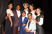 L-R front row: Miles Brown, Marsai Martin, Yara Shahidi; back row: Tracee Ellis Ross, Anthony Anderson, Marcus Scribner, Channing Dungey, President ABC Entertainment