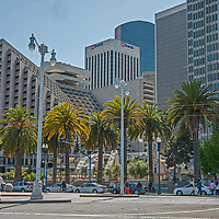 Skyscrapers in downtown San Francisco, California as seen from the Embarcadero.