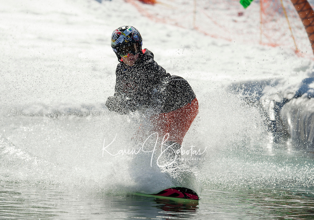 BYODC pond skimming at Gunstock.    Karen Bobotas/for the Laconia Daily Sun
