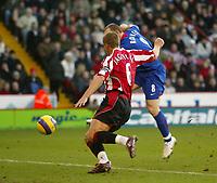Photo: Aidan Ellis.<br /> Sheffield United v Manchester United. The Barclays Premiership. 18/11/2006.<br /> Manchester's Wayne Rooney scores the equaliser