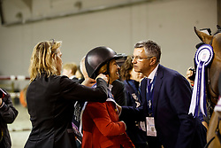 MADDEN Elizabeth (USA), BECKER Otto (Bundestrainer Springen GER)<br />