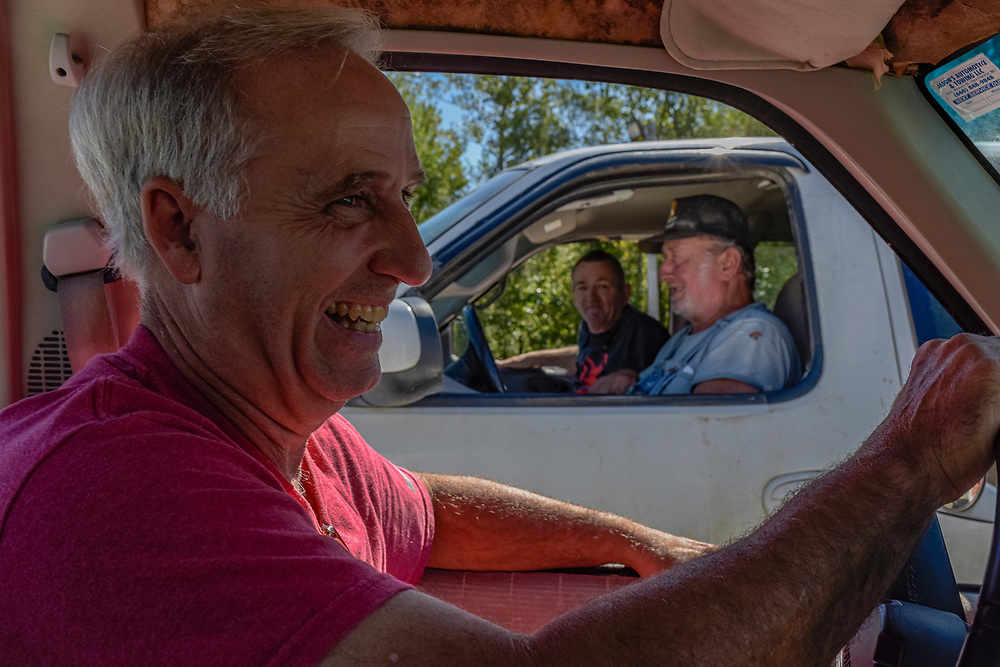Jim Snoddy smiles after chatting with friends dropping by the Snoddy's parking lot as he leaves the store on Monday, September 23, 2019. Despite not being open, many friends, acquaintances and well-wishers continue to stop by the store to speak to the brothers.
