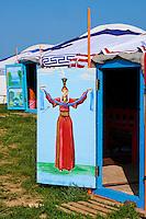 Mongolie, Province de Ovorkhangai, Vallee de l'Orkhon, camp de yourte // Mongolia, Ovorkhangai province, Orkhon valley, yurt camp