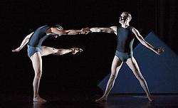 In The Spirit of Diaghilev<br /> world premier<br /> at Sadler's Wells, London, Great Britain<br /> rehearsal<br /> 13th October 2009 <br />  <br /> Wayne McGregor / Random Dance: Dyad 1909 <br /> <br /> <br /> <br /> <br /> Photograph by Elliott Franks