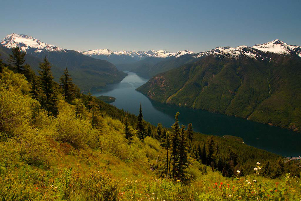 View from Desolation Peak Trail, North Cascades National Park, Washington, US