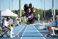 Clemson's Mimi Land (259) makes an attempt during the women's long jump event at the NCAA Division I Outdoor Track & Field Championships-East Preliminary in Jacksonville, Fla., Thursday, May 26, 2016. (Photo by Phelan M. Ebenhack)