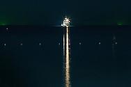 Yacht night lights at The Library resort, Chaweng beach, Koh Samui, Thailand