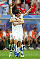 Jubel 0:2 Tomas Rosicky, verdeckt Tomas Galasek<br /> USA - Tsjekkia<br /> Fussball WM 2006 USA - Tschechien<br /> Norway only<br /> Fotball VM
