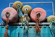 Boeien in de haven van Scheveningen, Den Haag - Buoys in the harbour of Scheveningen, The Hague, Netherlands