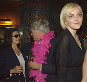 Bianca Jagger, Geoffrey Robertson, Q.C. Sophie dahl and Laura Bailey. The Vagina Monologues first night at the New Ambassador Theatre and afterwards at the ivy. © Copyright Photograph by Dafydd Jones 66 Stockwell Park Rd. London SW9 0DA Tel 020 7733 0108 www.dafjones.com