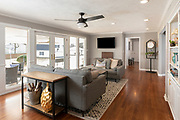 Modern Family Room interior photography by Brandon Alms