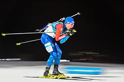 February 11, 2018 - Pyeongchang, Gangwon, South Korea - Quentin Fillon Maillet ofFrance at Mens 10 kilometre sprint Biathlon at olympics at Alpensia biathlon stadium, Pyeongchang, South Korea on February 11, 2018. (Credit Image: © Ulrik Pedersen/NurPhoto via ZUMA Press)