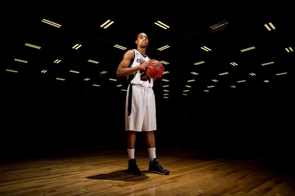 Oct 23, 2013; Morrow, GA, USA; Portraits of Clayton State basketball player Charles Shedrick at CSU. Photo by Kevin Liles/kevindliles.com
