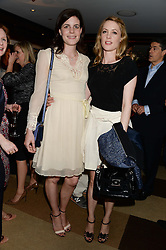 Left to right, LADY LAURA CATHCART and EMMA WIGAN at a party to celebrate Ben Goldsmith guest-editing the July/August 2013 edition of Spears Magazine held at 45 Park Lane, London on 19th June 2013.