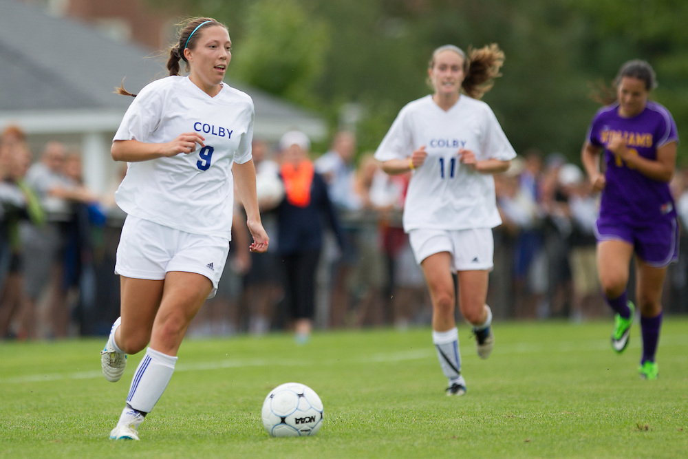 Cami Notaro, of Colby College, in an NCAA Division III college soccer game against Williams College at Colby College, Saturday Sept. 7, 2012 in Waterville, ME. (Dustin Satloff/Colby College Athletics)
