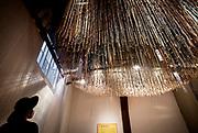 HAARLEM, 24-11-2020, Museum van de Geest<br /> <br /> Koningin Maxima opent het vernieuwde Museum van de Geest   Dolhuys. Koningin Máxima onthult een glas-in-lood raam in de kapel en ansluitend maakt de Koningin een rondgang door het museum, waarbij een aantal kunstenaars uitleg geven over hun werk.<br /> <br /> Queen Maxima opens the renewed Museum of the Spirit   Dolhuys. Queen Máxima unveils a stained-glass window in the chapel and then the Queen makes a tour of the museum, during which a number of artists explain their work.