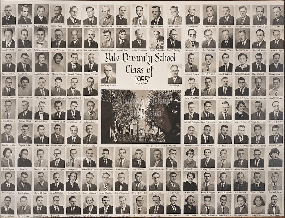 1955 Yale Divinity School Senior Portrait Class Group Photograph