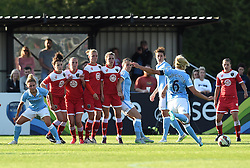 Manchester City Women captain Stephanie Houghton takes a free kick - Photo mandatory by-line: Paul Knight/JMP - Mobile: 07966 386802 - 18/07/2015 - SPORT - Football - Bristol - Stoke Gifford Stadium - Bristol Academy Women v Manchester City Women - FA Women's Super League