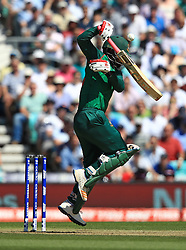 Bangladesh's Tamim Iqbal bats during the ICC Champions Trophy, Group A match at The Oval, London.