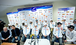 Press conference of Slovenian Nordic team  before departure to Nordic Ski World Championships Liberec 2009, on February 16, 2009, in Ljubljana, Slovenia. (Photo by Vid Ponikvar / Sportida)