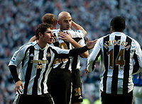Photo: Jed Wee.<br /> Newcastle United v Portsmouth. The Barclays Premiership. 26/11/2006.<br /> <br /> Newcastle celebrate with goalscorer Antoine Sibierski (C).
