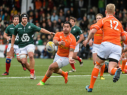 March 4, 2017 - Amsterdam, Netherlands - Storm Carroll of the Netherlands during the Rugby Europe Trophy match between the Netherlands and Portugal at the National Rugby Centre Amsterdam on March 04, 2017 in Amsterdam, Netherlands  (Credit Image: © Andy Astfalck/NurPhoto via ZUMA Press)