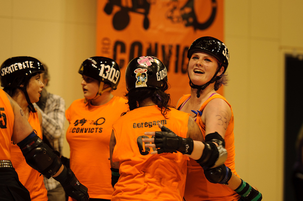 Coverage of Roller Derby event and TSB Bank Arena venue in use: ..Event: Two bouts - a curtain raiser of the RCRD Convicts v Raggedy Angst, from the Hellmilton Roller Ghouls, which will start at 6 sharp. And the RCRD All Stars v Dead End Derby (Chch) starting around 7pm. The doors open at 5:30pm..Photo by Mark Tantrum | www.marktantrum.com