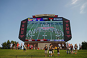 DALLAS, TX - AUGUST 30: Fans look on before kickoff between the SMU Mustangs and the Texas Tech Red Raiders on August 30, 2013 at Gerald J. Ford Stadium in Dallas, Texas.  (Photo by Cooper Neill/Getty Images) *** Local Caption ***