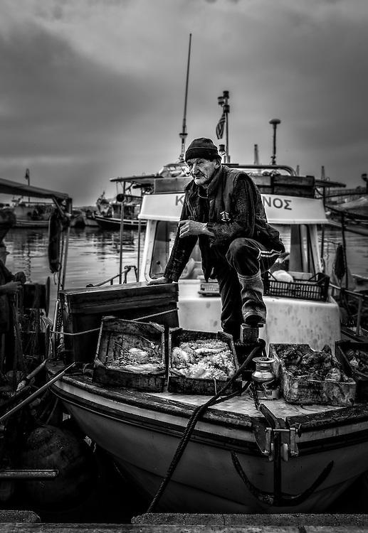 Fishermen in Volos harbour - 13