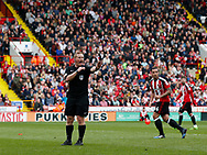 Referee John Busby during the English League One match at  Bramall Lane Stadium, Sheffield. Picture date: April 30th 2017. Pic credit should read: Simon Bellis/Sportimage