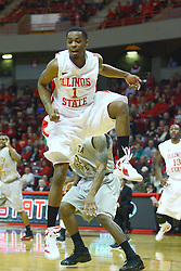 22 February 2012:  Tyler Brown during an NCAA Missouri Valley Conference mens basketball game between the Wichita State Shockers and the Illinois State Redbirds in Redbird Arena, Normal IL