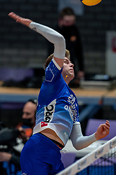 Bennie Tuinstra of Lycurgus in action during the second final league match between Amysoft Lycurgus vs. Draisma Dynamo on April 24, 2021 in Groningen.