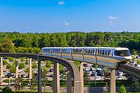 Monorail, Magic Kingdom, Walt Disney World, Orlando, Florida USA