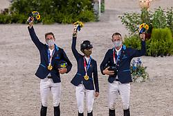 Team Sweden, Von Eckermann Henrik, Baryard-Johnsson Malin, Fredricson Peder<br /> Olympic Games Tokyo 2021<br /> © Hippo Foto - Dirk Caremans<br /> 07/08/2021