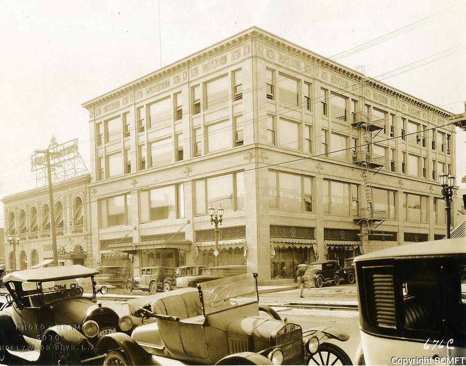 1924 NW corner of Hollywood Blvd. & McCadden Pl.