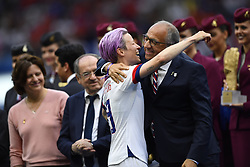 July 7, 2019 - Lyon, France - Megan Rapinoe (Reign FC) of United States controls the ball during the 2019 FIFA Women's World Cup France Final match between The United State of America and The Netherlands at Stade de Lyon on July 7, 2019 in Lyon, France. (Credit Image: © Jose Breton/NurPhoto via ZUMA Press)