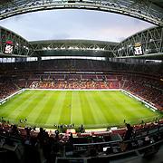Galatasaray's and Fenerbahce's during their Turkish superleague soccer derby match Galatasaray between Fenerbahce at the AliSamiYen spor kompleksi TT Arena in Istanbul Turkey on Saturday, 18 october 2014. Photo by Aykut AKICI/TURKPIX