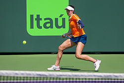 March 20, 2018 - Key Biscayne, FL, U.S. - Key Biscayne, FL - MARCH 20: Christina Mchale (USA) competes during the qualifying round of the 2018 Miami Open on March 20, 2018, at Tennis Center at Crandon Park in Key Biscayne, FL. (Photo by Aaron Gilbert/Icon Sportswire) (Credit Image: © Aaron Gilbert/Icon SMI via ZUMA Press)