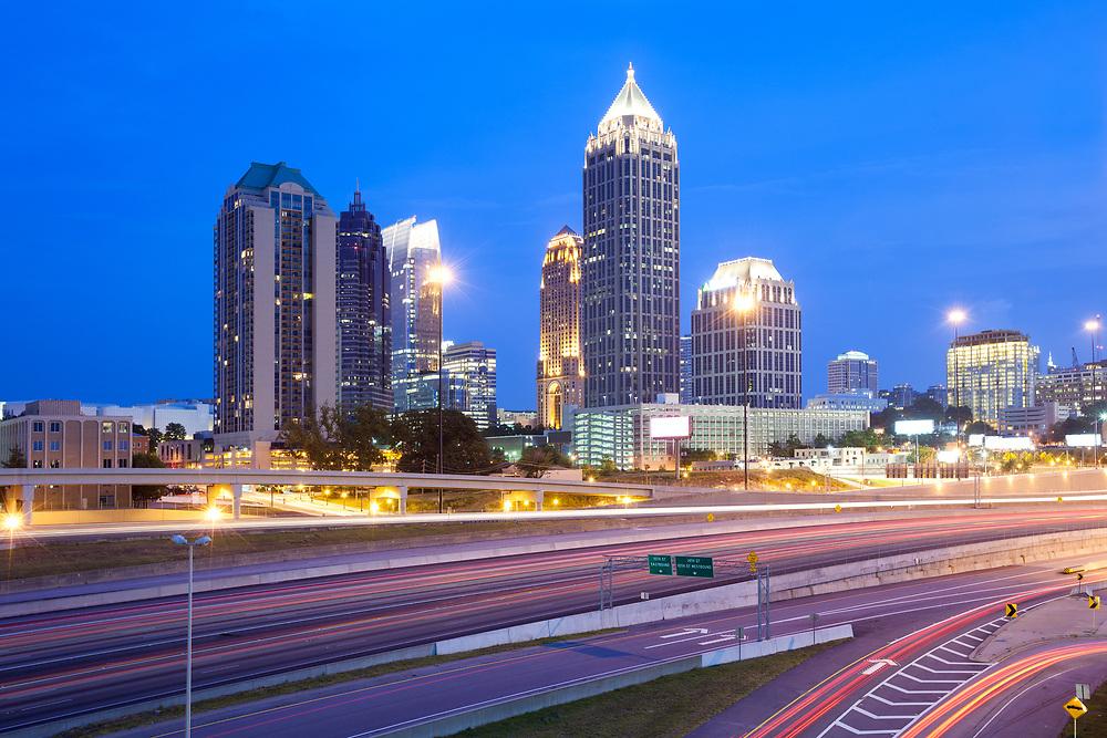 Skyline of Midtown Atlanta at dusk, Georgia, United States
