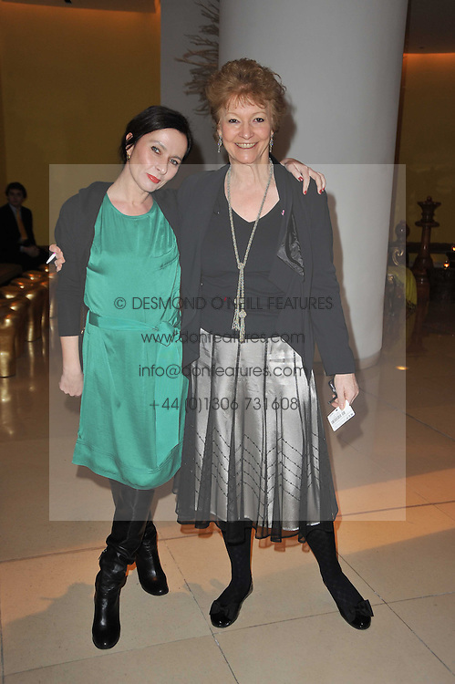 Left to right, GILLIAN McVEY and HANNAH TILLER at a Burns Night dinner in aid of cancer charity CLIC Sargent held at St.Martin's Lane Hotel, London on 25th January 2011.