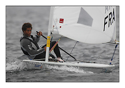 The second day of racing at the World Laser Radial Youth Championships, Largs, Scotland...Mattis Naud FRA 195240..317 Youth Sailors from 42 different nations compete in the World and European Laser Radial Youth Champiponship from the 17-25 July 2010...The Laser Radial World Championships take place every year. This is the first time they have been held in Scotland and are part of the initiaitve to bring key world class events to Britain in the lead up to the 2012 Olympic Games. ..The Laser is the world's most popular singlehanded sailing dinghy and is sailed and raced worldwide. ..Further media information from .laserworlds@gmail.com.event press officer mobile +44 7866 571932 and +44 1475 675129 .