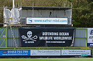 Advertising board during the Vanarama National League match between Forest Green Rovers and North Ferriby United at the New Lawn, Forest Green, United Kingdom on 1 April 2017. Photo by Alan Franklin.