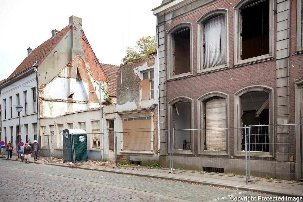 afbraak woning in de Florent van Cauwenbergstraat lier