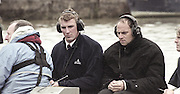 London, Great Britain, <br /> Left, Matthew PINSENT and Steve REDGRAVE, commentating on the race<br /> 147th Oxford vs Cambridge Varsity Boat Race, Over the Championship Course, Putney To Mortlake. 24.03.2001<br /> <br /> [Mandatory Credit: Peter SPURRIER/Intersport Images]<br /> <br /> Crews. <br /> <br /> Oxford UBC. Bow. Robin BOURNE-TAYLOR,  MF BONHAM, EB LILLEAHI, Ian WEIGJELL, Dan SNOW, Brian PALM. Matt SMITH cox JC MONCRIEFF.<br /> <br /> Cambridge UBC. Bow. JC SWAINSON, Lukas HIRST, TM EDWARDS-MOSS, RIck DUNN, Josh WEST, Tom STALLARD. Tim WOOGE and cox Christian CORMACK. [Mandatory Credit; Peter SPURRIER/Intersport Images]<br /> <br /> 20010324 University Boat Race, Putney to Mortlake, London, Great Britain.