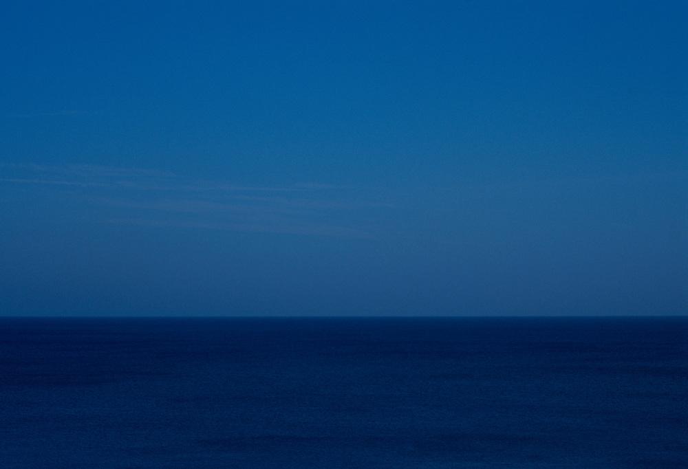 Blue Horizon line where the Sky meet Water