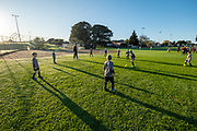 Under 7's - Community junior football at Metro Football Club in Mt Albert, Auckland, New Zealand on Saturday 20th June 2020.<br /> Copyright photo: www.photosport.nz