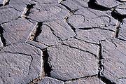 Columnar basalt on top of Devils Postpile, Devils Postpile National Monument, California