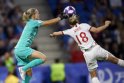 June 27, 2019 - Le Havre, France - Ingrid Hjelmseth (Stabaek If) of Norway and Ellen White (Birmingham City WFC) of England competes for the ball during the 2019 FIFA Women's World Cup France Quarter Final match between Norway and England at  on June 27, 2019 in Le Havre, France. (Credit Image: © Jose Breton/NurPhoto via ZUMA Press)